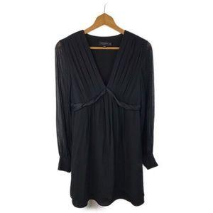 Ted Baker London Black Silk Blend Sheath Dress